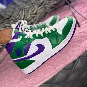 """Air Jordan 1 Mid purple and green """"HULK"""""""